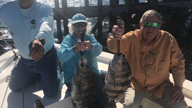 Sheepshead Fishing in Mobile Bay